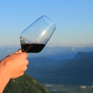 glas rotwein etschtal