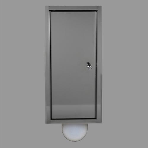 Brush-up RVS gepolijst: Inbouw toiletborstel is een systeem dat naast het het inbouw toiletframe kan worden geplaatst.