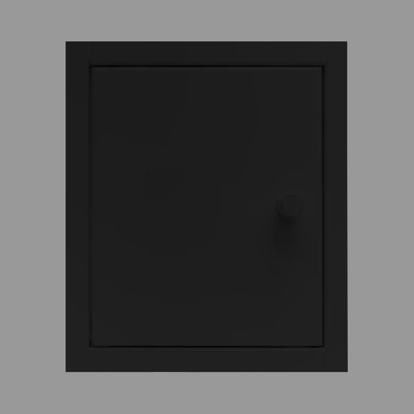 back-up inbouw kastje zwart