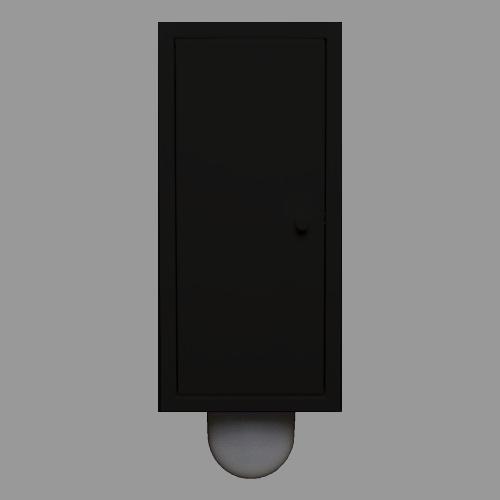 Brush-up zwart gepoedercoat (RAL 9005): Inbouw toiletborstel is een systeem dat naast het het inbouw toiletframe kan worden geplaatst.