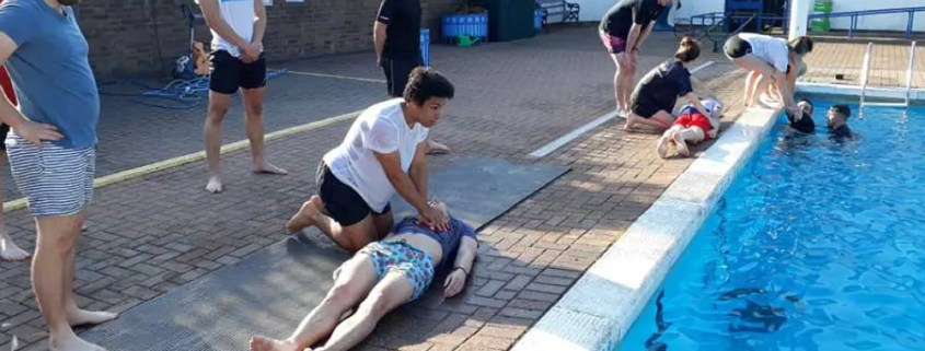 First aid training at hood park leisure centre Ashby