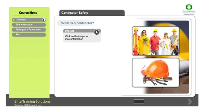 E-Learning Contractor Safety Training