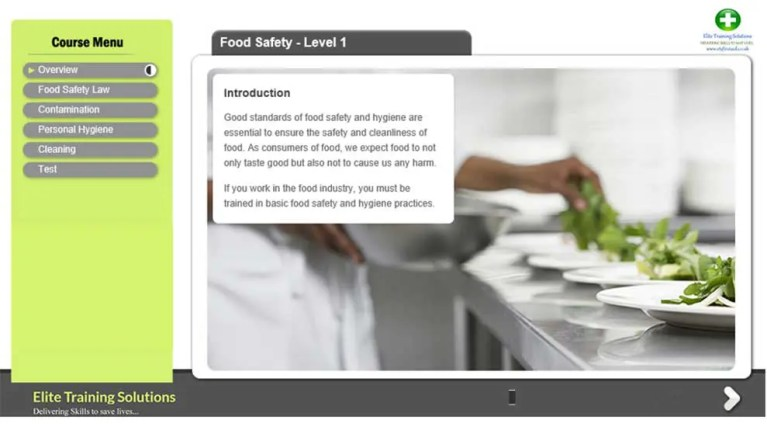 E-Learning Food Safety Level 1