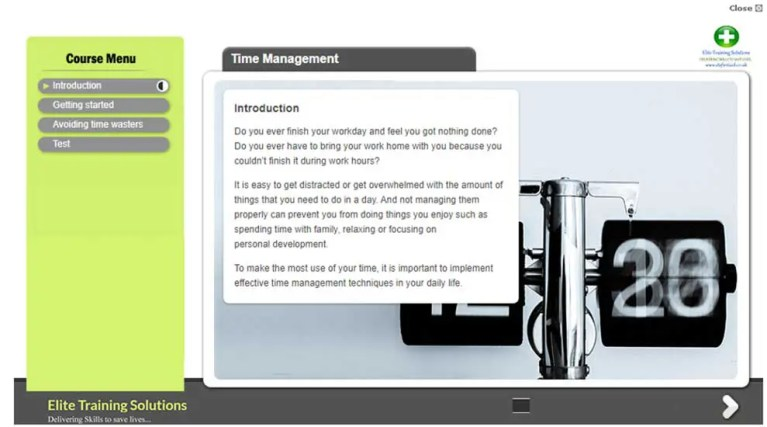 E-Learning Time Management