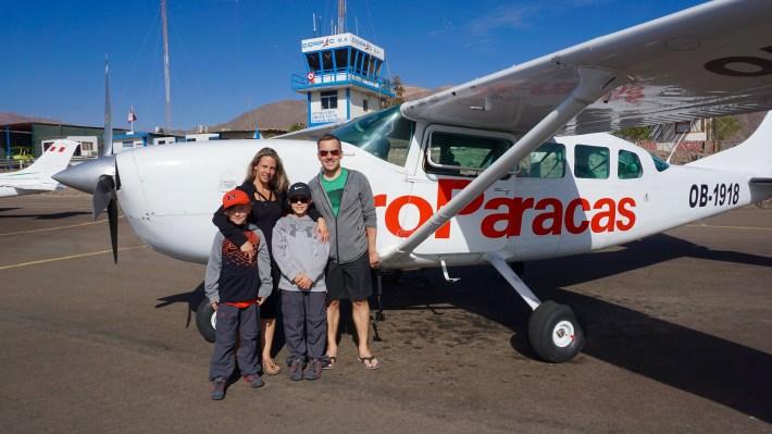 Nazca - Embarquement avec AéroParacas