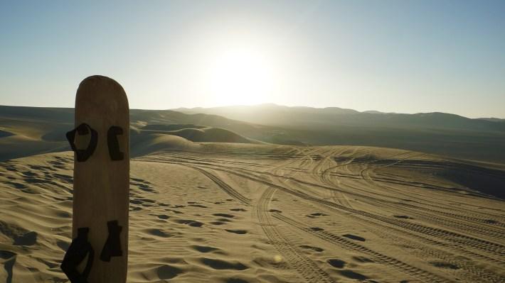 Ica - Choucher de soleil sur les dunes
