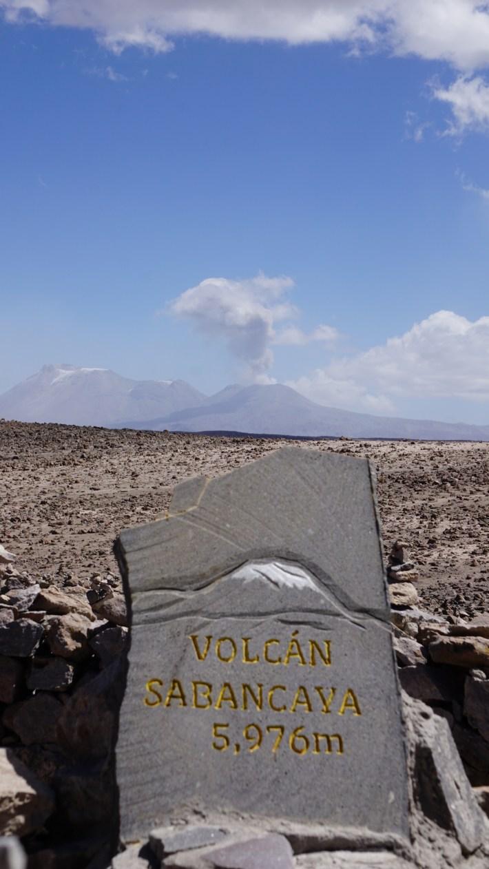 Arequipa, le canyon de Colca et tout le tralala - Volcan Sabancaya