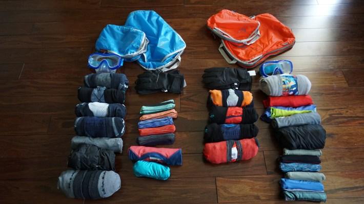 Notre équipement pour notre voyage autour du monde - L'équipement des deux garçons