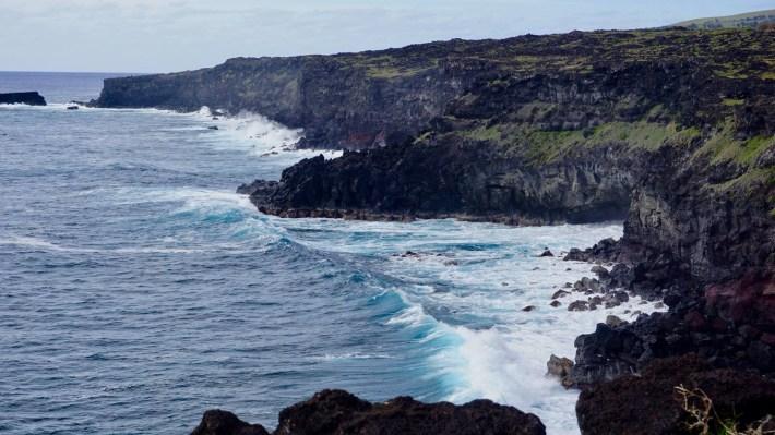 Île de Pâques - À la recherche de Rapa Nui pool - Les falaises