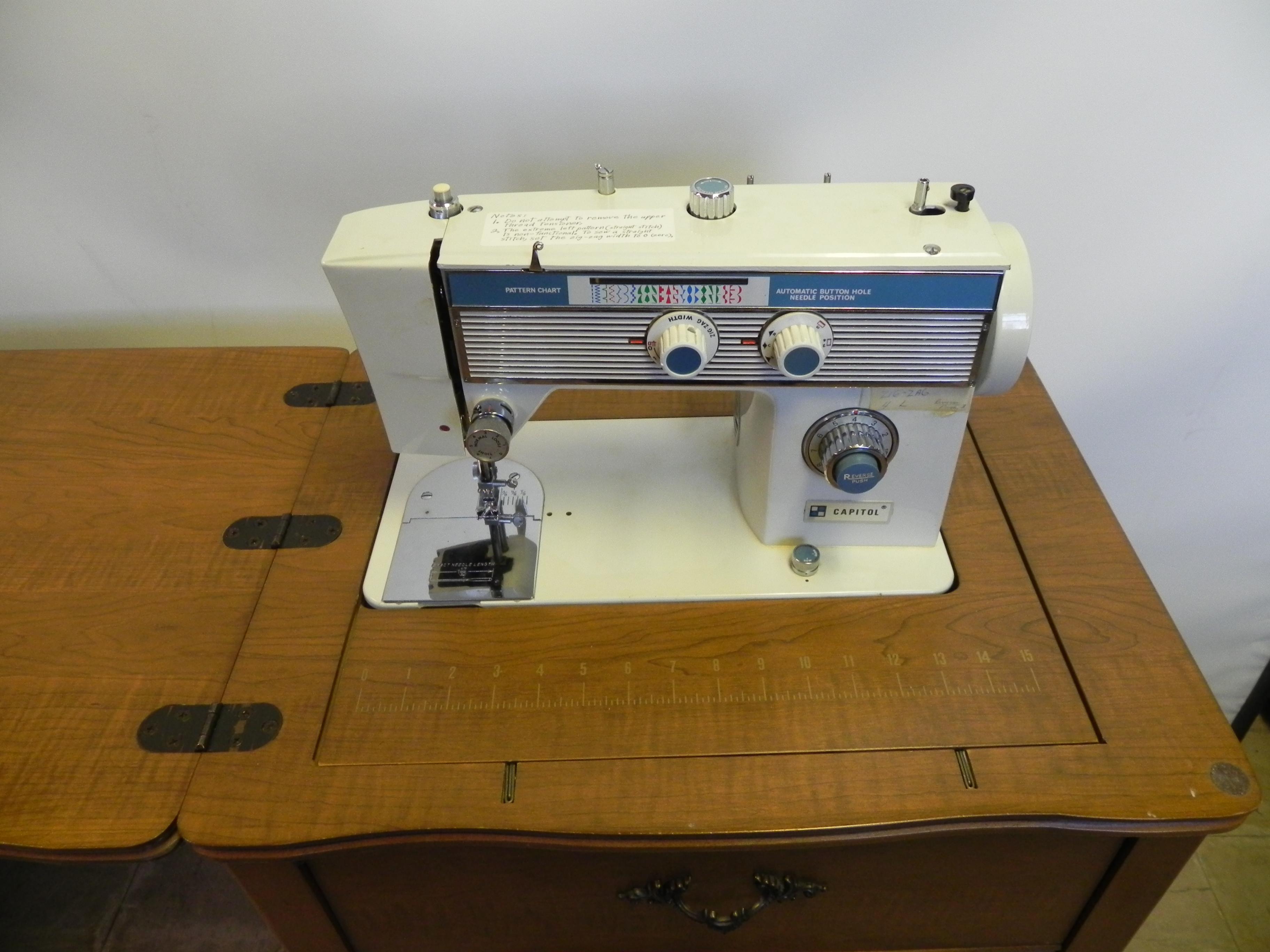 Necchi Supernova Sewing Machine Threading Diagram Vintage