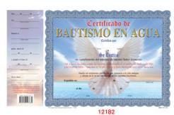 Certificado De Bautismo En Agua Dove 10 1 4 X 8 1 2