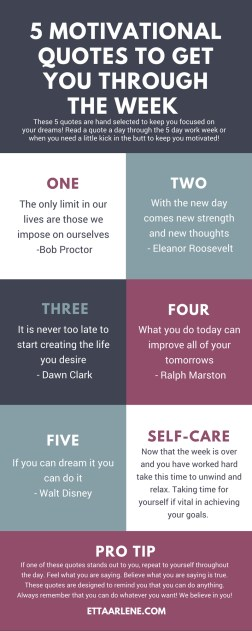 5 Motivational Quotes To Get You Through The Week Etta Arlene
