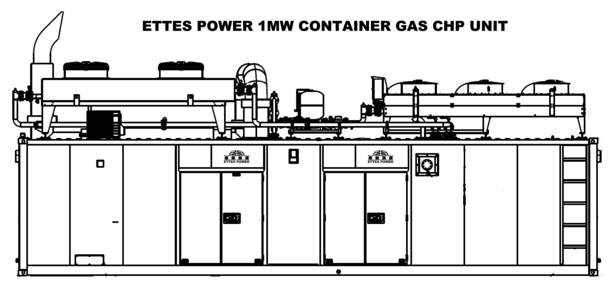 hight resolution of outline drawing of ettes gas generator chp container type cooling method of table radiator