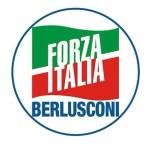Il simbolo di Forza Italia con La scritta 'Berlusconi' presentato alle Elezioni Europee.