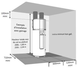 Emplacement à réserver pour l'implantation d'un préparateur d'eau chaude