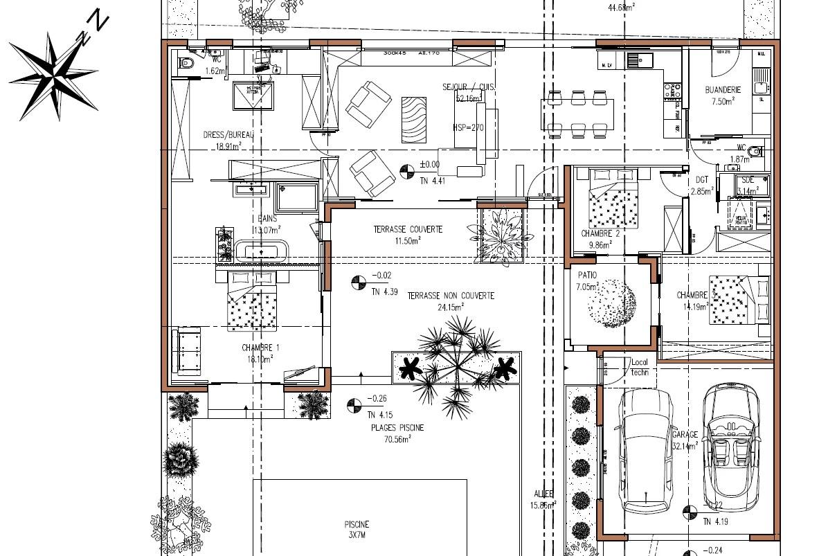 exemple de maison non compacte