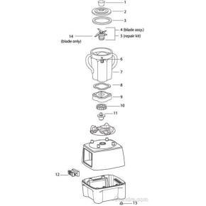 Waring blender cb 10 parts interchangeability, kitchenaid