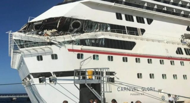Two Carnival Cruise ships collide in Cozumel