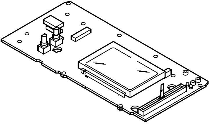 CMX-5000: DISPLAY-Platine (rechts)