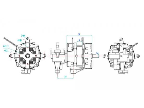 Motor monofásico de indução para condensador série YY60