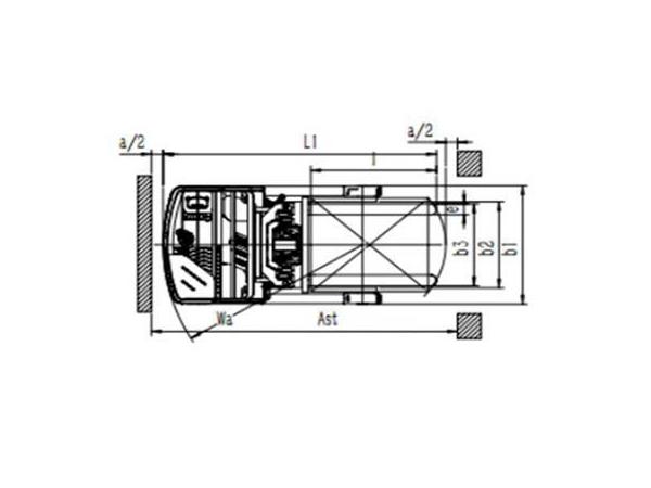 Empilhadeira/Empilhador elétrico retrátil 1,600-1,800kg