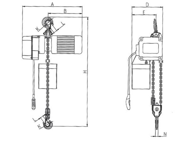 Electric Chain Hoist (PDH Hoist with Manual Trolley