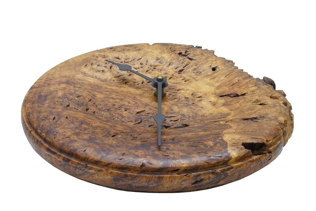 rustic kitchen clock black slate floor tiles oak root 4 wooden wall