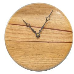 Wooden Kitchen Clock Epoxy Commercial Flooring Modern Wood Wall Home Decor 2 Contemporary Housewarming Gift P1