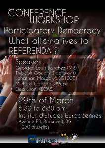 Participatory democracy : What alternatives to Referendum ?
