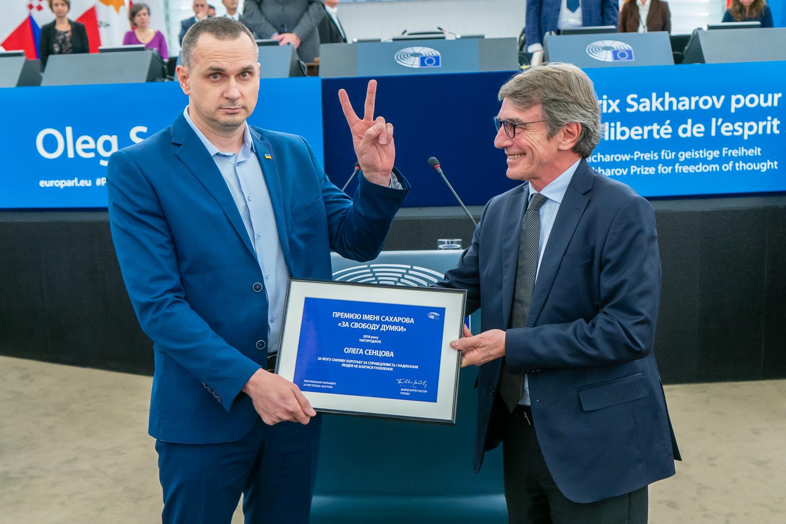 Le prix Sakharov pour Oleg Sentsov