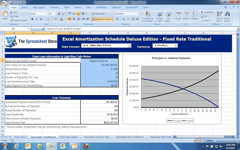 Excel Amortization Schedule Deluxe Edition 2007 (10-User) – FREE STREAMING