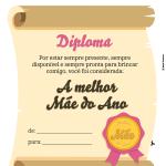 diploma dia das mães