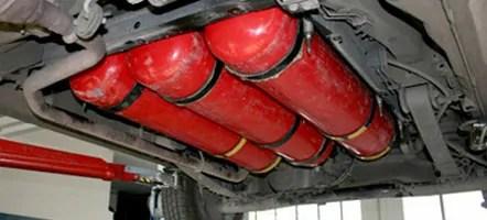 posizionamento bombole metano