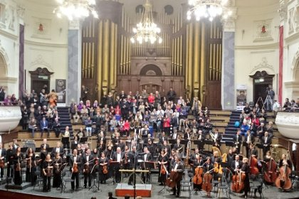 The Cape Town Philharmonic Orchestra at City Hall (Copyright: Eugene Yiga)
