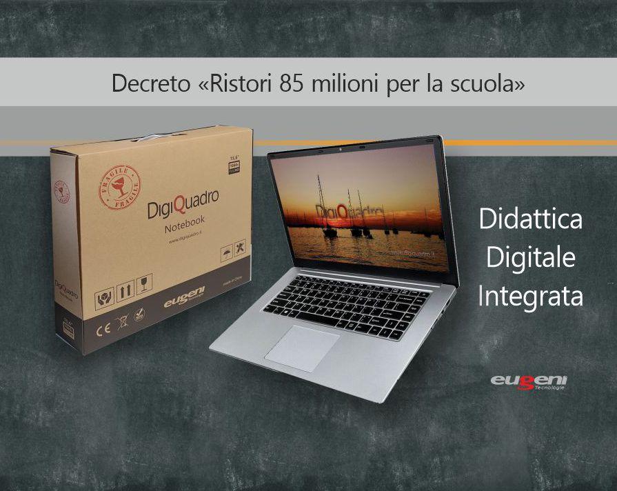 Decreto Ristori 85 milioni – Notebook per la didattica a distanza