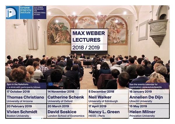 Abstracts for Max Weber Lectures 2018-2019 • European University ...