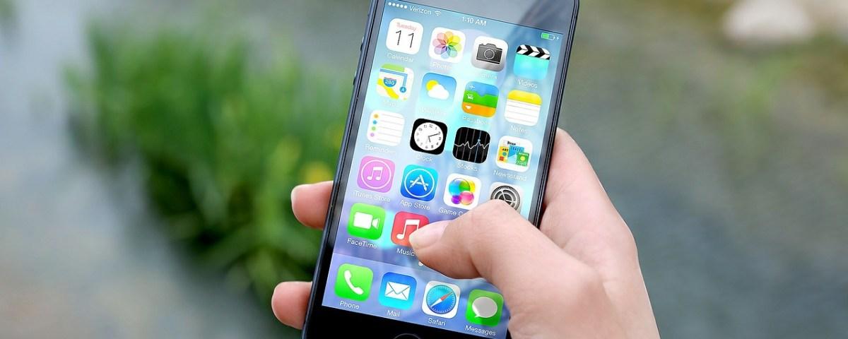Un écran d'iPhone