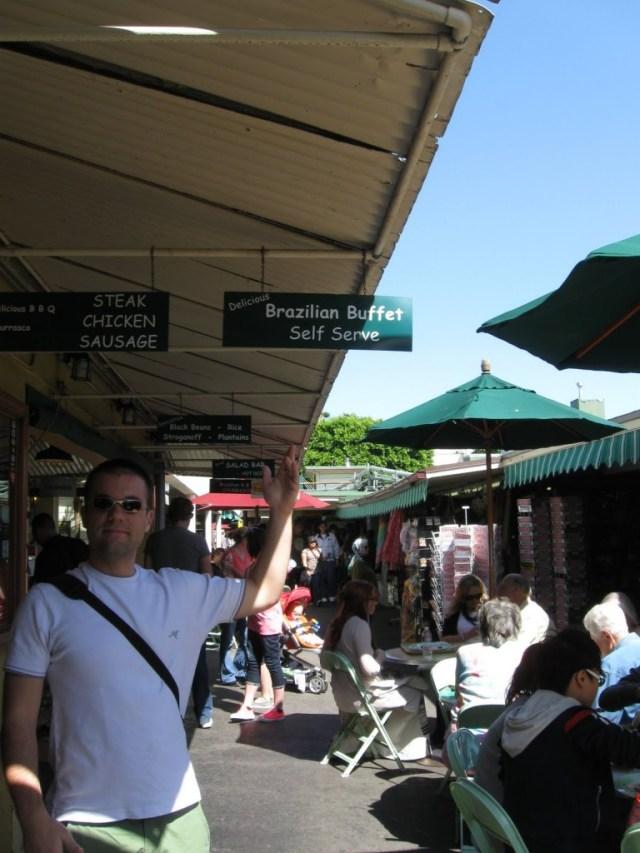 Restaurante brasileiro no Farmers Market de LA