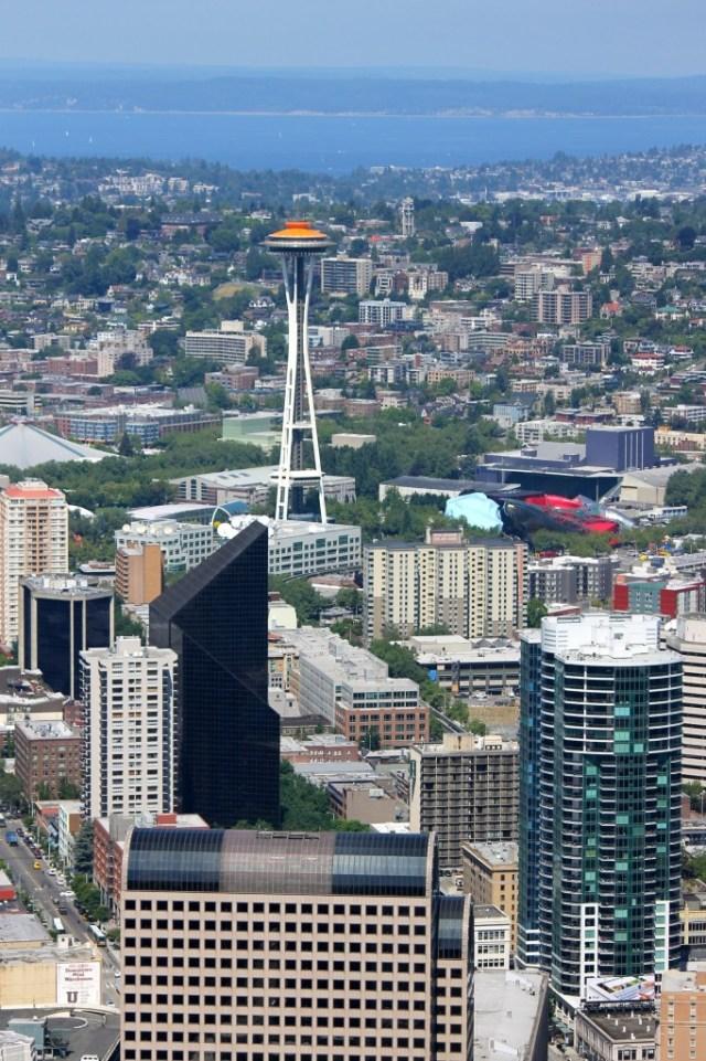 Space Needle vista da Columbia Tower, prédio mais alto de Seattle.