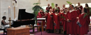 CHOIR IN RED