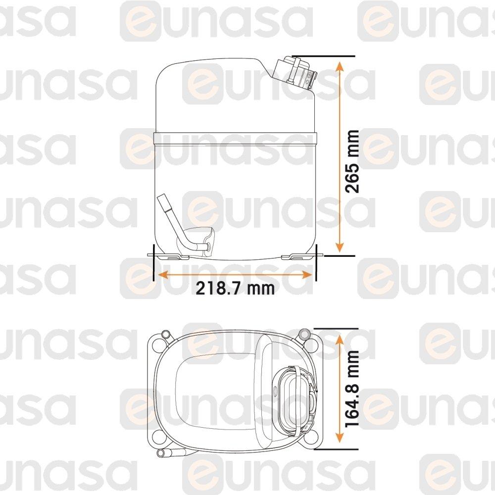 medium resolution of  1 4hp 230v caj2464z compressor r 404a