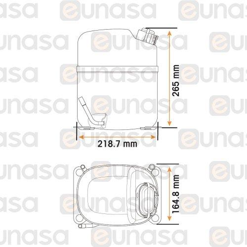 small resolution of  1 4hp 230v caj2464z compressor r 404a