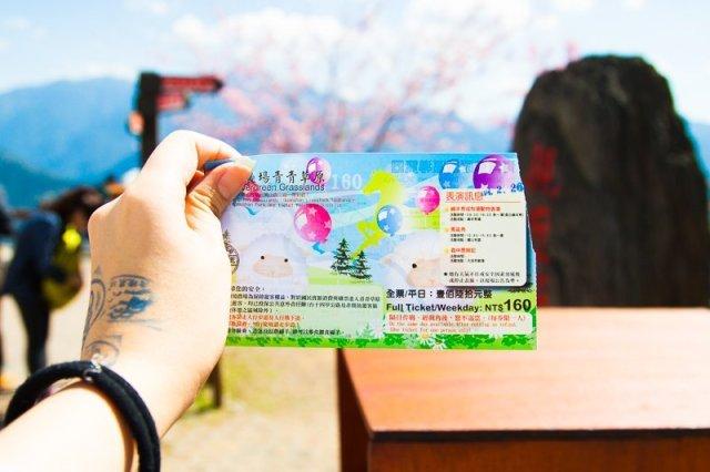 Cost of Ticket to Green Green Grasslands, Cingjing Farm, Taiwan