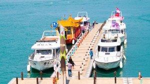 ferries at sun moon lake