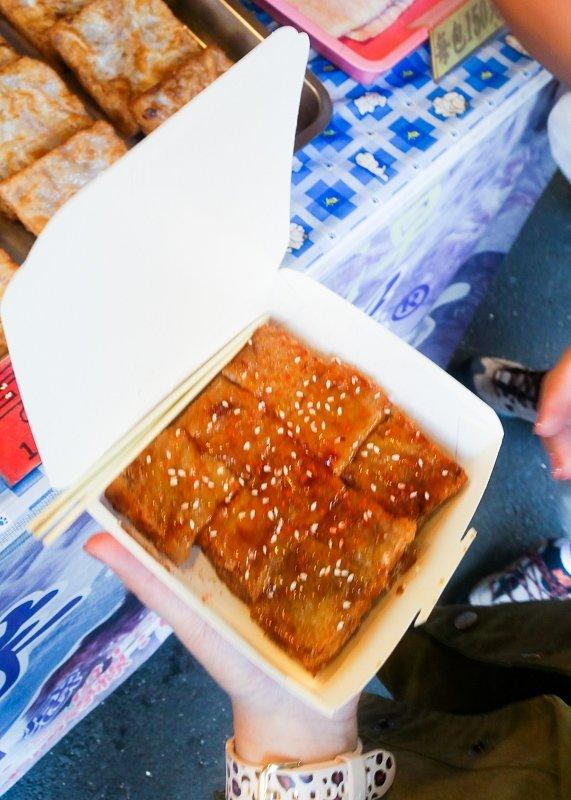 fried yam cakes at ito thao sun moon lake taiwan