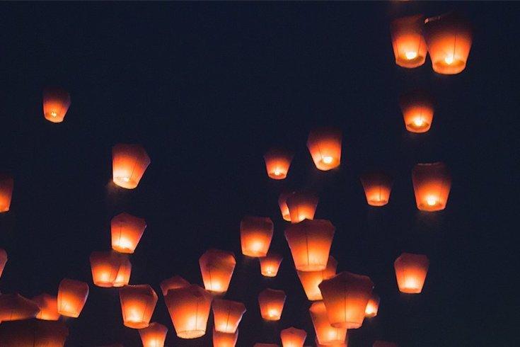 Sky Lantern Festival, Pinghsi, Taiwan