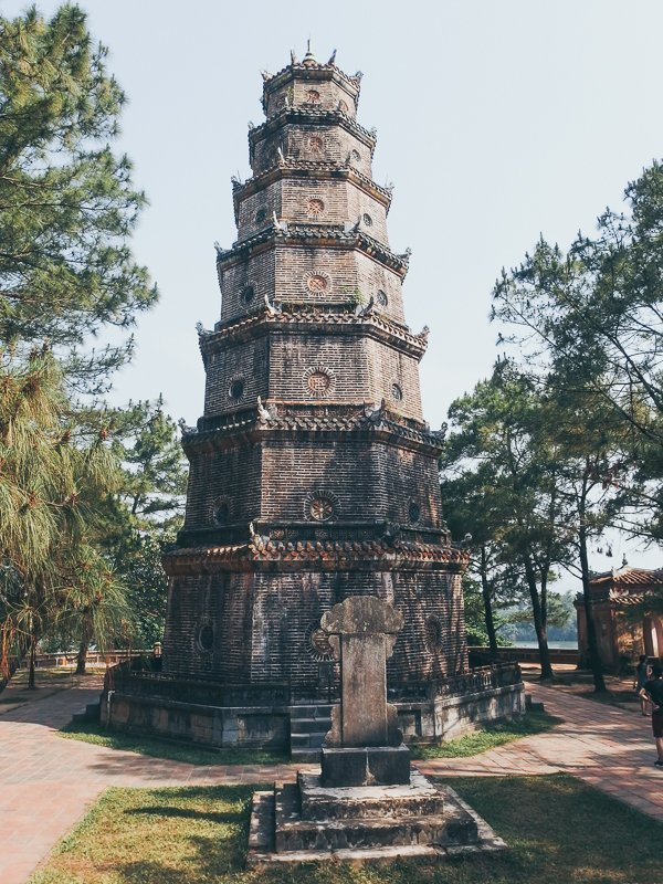 What to see in Thien Mu Pagoda Hue Vietnam