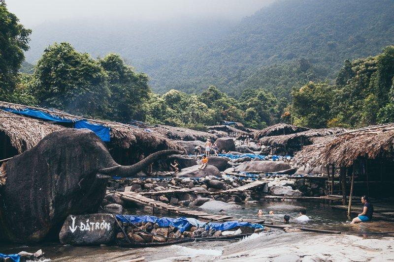 Elephant Waterfall Springs Suol Voi Hue Adventure Motorbike Tour Vietnam Hoi An