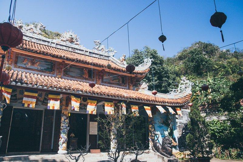 Temple - Danang Ngu Hanh Son Marble Mountains Hue Adventure Motorbike Tour Vietnam Hoi An