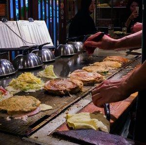 Okonomiyaki Osaka Japan